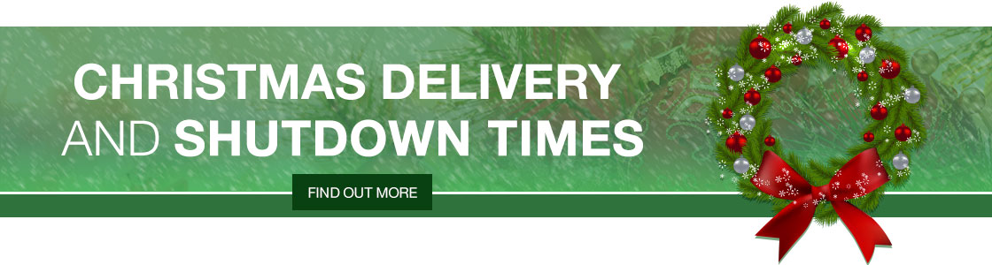 Christmas Delivery and Shutdown Times